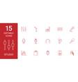 15 studio icons vector image vector image