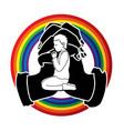 a boy prayer cartoon graphic vector image vector image