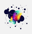 abstract colorful gradient and geometric line art vector image vector image