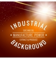 Abstract industrial background vector image vector image