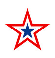 america star icon vector image vector image