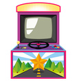 Arcade game box with screen and wheel vector image vector image