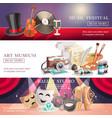 arts horizontal banners set vector image vector image