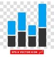 Bar Chart Eps Icon vector image vector image