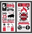 barbecue invitation vector image vector image