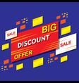 big discount offer banner or poster design vector image vector image