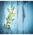 blue summer fence vector image vector image