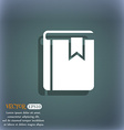 Book bookmark icon On the blue-green abstract vector image