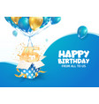 celebrating 45th years birthday vector image vector image