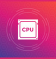 cpu processor icon vector image vector image