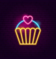 cupcake neon sign vector image