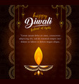 decorated diwali card design vector image