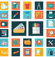 design flat icons set graphic and web vector image vector image