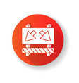 detour red flat design long shadow glyph icon vector image