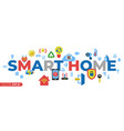 digital smart and digital home vector image vector image