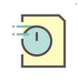 document express icon design 48x48 pixel perfect vector image vector image