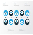 dress colorful icons set collection of panama vector image vector image