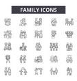 family line icons signs set outline vector image vector image