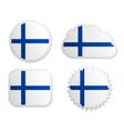 Finland flag labels vector image
