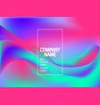 fluid shapes wavy liquid background bright vector image