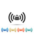 free wi-fi safety lock sign on white background vector image vector image