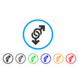 gay symbol rounded icon vector image vector image