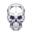 geometric style skull head illustration vector image