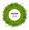 green grass circle background vector image