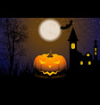 halloween greeting card with jack-o-lantern vector image