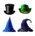 halloween headdress - top hat bowler cap vector image vector image