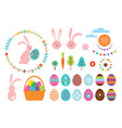 happy easter set elements for your design vector image