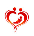heart love family figure icon logo vector image vector image