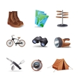 Hike Icons Set vector image