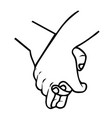 holding hands promise for friendship outline vector image vector image