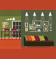 home interior vector image vector image