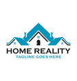 housing sales logo vector image vector image