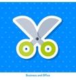 Icon of scissors vector image vector image