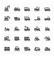 icon set - construction and machine filled vector image vector image
