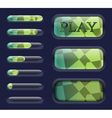 Isolated Game interface elements vector image
