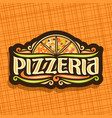 logo for italian pizzeria vector image