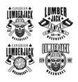 lumberjack vintage emblems badges or logos vector image