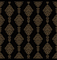 luxury ornamental background gold damask floral vector image vector image