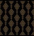 luxury ornamental background gold damask floral vector image vector image