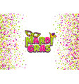 mardi gras comic text pop art vector image vector image