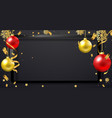 merry christmas banner text and new year xmas vector image vector image