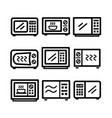 microwave icon set vector image