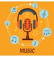 Music sound and entertainment concept vector image vector image