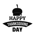 nut thanksgiving logo simple style vector image