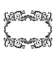 ornament frame border vector image