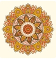 Ornamental round lace pattern Colorful delicate vector image